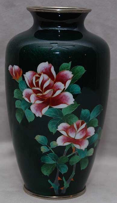 5: Chinese cloisonné floral vase