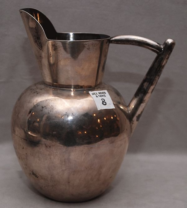 8: Mexican Aguilar Silver pitcher marked Taxco JA 940