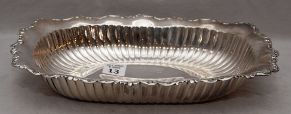 """13: Sterling bowl """"5072""""  11""""L x 1 3/4""""h, 12oz"""