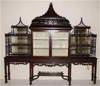 120 English 19th century mahogany Chinese Chippendale
