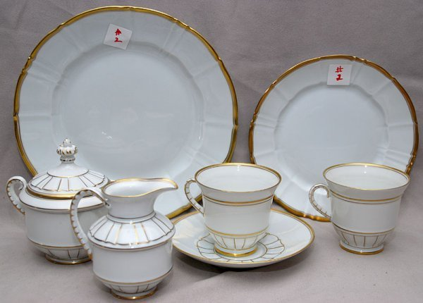 "2: Approx. 79 pcs ""Copenhagen Porcelain"" china set incl"