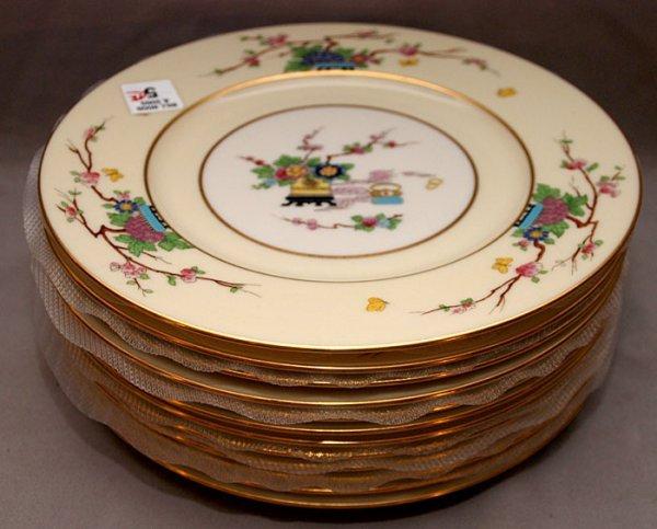 """5: 12 Lenox """"Mandarin"""" plates, 10 1/2"""""""