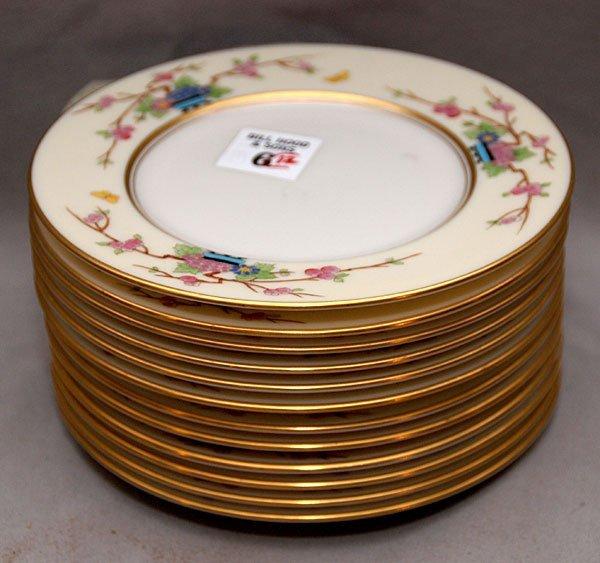 """6: 12 Lenox """"Mandarin"""" plates, 6 1/4"""""""