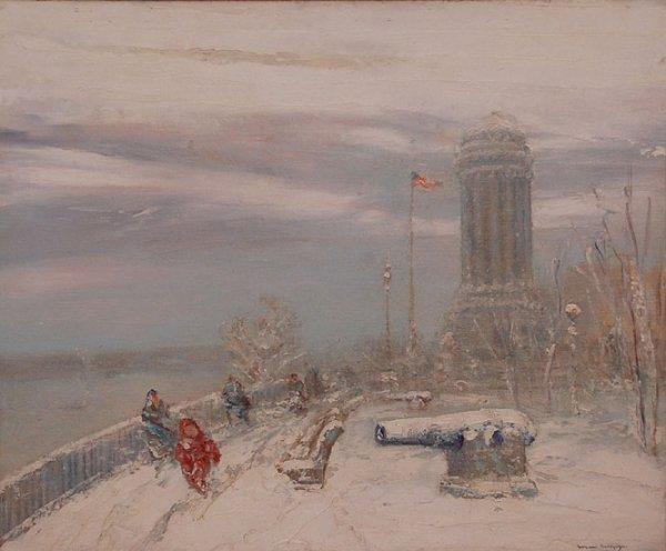 165: Johann Berthelsen  (New York 1883 - 1972) oil on C