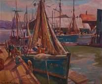 173: Emile Albert Gruppe (AMERICAN, 1896-1978) oil on c