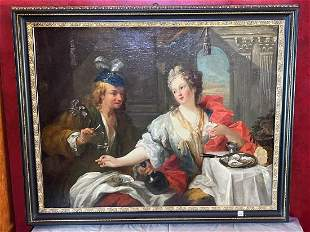 Antique Continental School Old Master Style Oil on