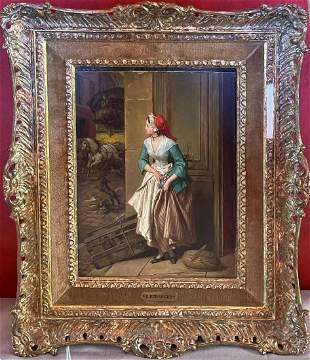 Emmanuel Beranger (FRENCH) 19th Century, Oil on Board,