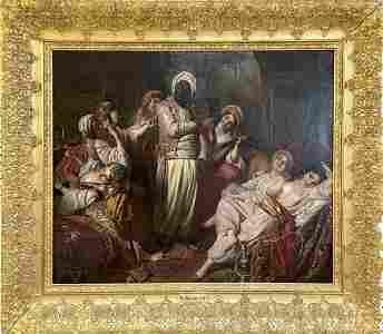 Henri Guillaume Schlesinger oil Orientalist Harem Scene