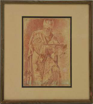 ATTR. Guercino (Italian b.1591 -d.1666) Ink Drawing