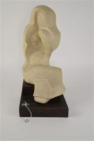 Hooke, Richard Modernist Figural Limestone Sculpture -