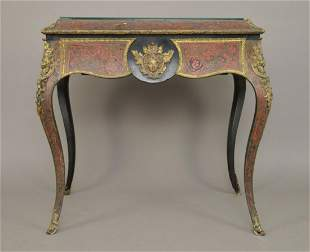 18th c. Boulle Table/Planter with Bronze Bust Mounts,