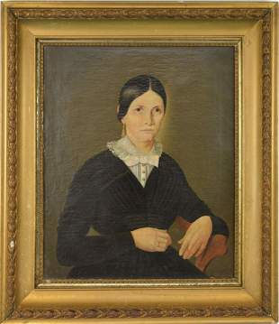 Antique Portrait signed Schroth, oil on canvas,