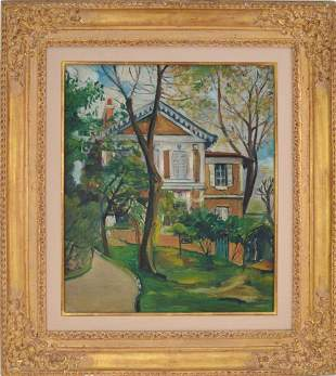 Elisee Maclet (French, 1881-1962) House Painting, oil