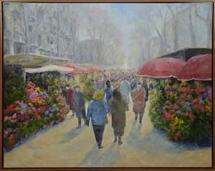 Montserrat Masdeu Soler (b. 1947) oil on canvas ,