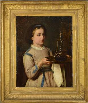 attr. John Everett Millais (British) Portrait of woman
