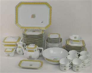 81 PCS Bernardaud Limoges Phuket Porcelain Set for 12 -
