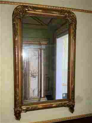 French Louis Philippe Giltwood Mirror. Condition: