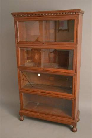 Barrister Mahogany 4 Tier Stacking Bookcase with Macey