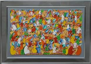 Carlo Decimus (Haitian 20th Century) oil on canvas,