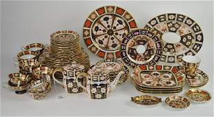 Approximately 65 Pieces Royal Crown Derby Imari Dinner