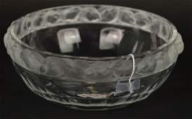 Lalique Crystal Bowl signed Lalique France on the