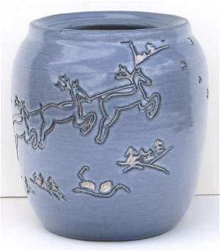 University of North Dakota Art Pottery Large Jar, UND,