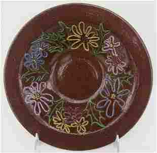 University of North Dakota Art Pottery Wide Bowl, UND,