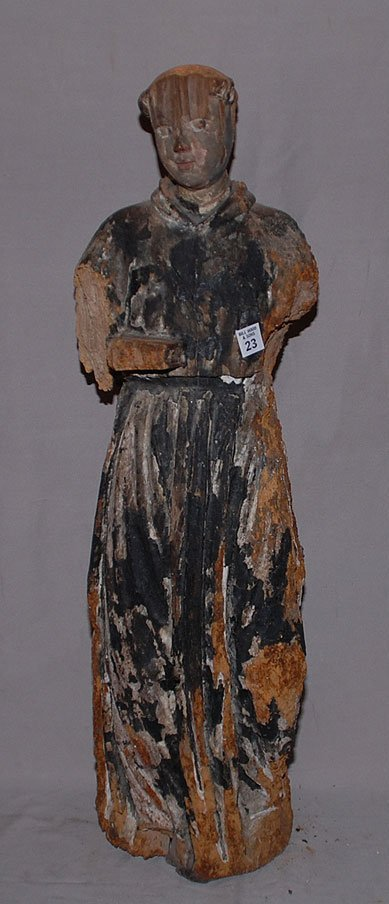 23: 19th century oversized  Continental Santos wood fig