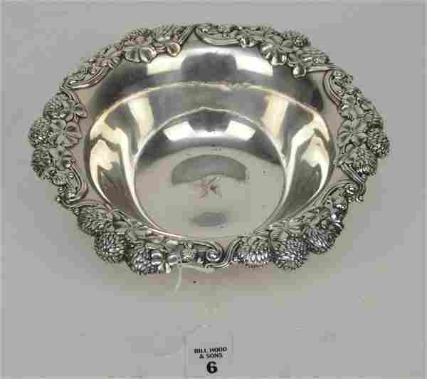 Tiffany & Co. Makers Sterling 9 inch bowl,