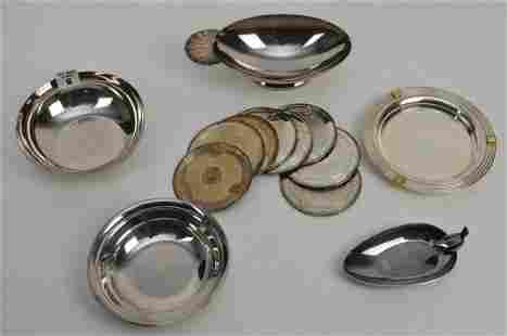 13 PCS. CHRISTOFLE, silverplated bowls and plates