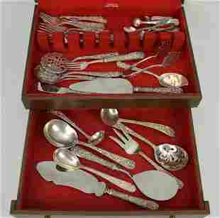 17 S. Kirk & Son Sterling Serving Pieces and 16 Kirk &
