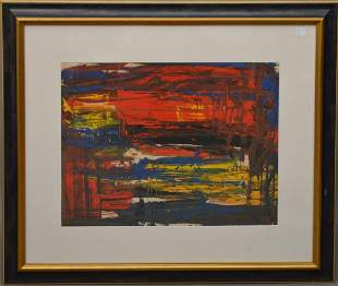 VIRGIL CANTINI (1919-2009). oil on heavy paper, Signed