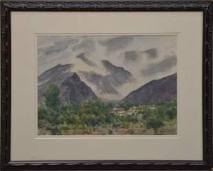 Ben Carre (American, 1883-1978) Watercolor - California