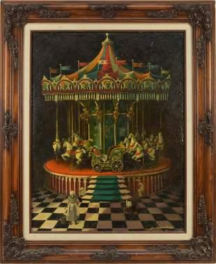 Jan Hansen Travis (American 20th Century) oil on