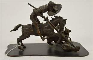 Bronze Warrior/Cavalier, Hunting with Spear, No