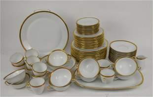 Bavaria Germany Hertal Jacob China Pcs, White with Gold