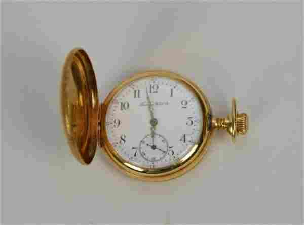 14K Yellow Gold Tavannes Pocket Watch. Weight 29.1