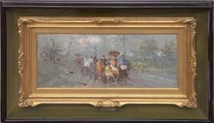 Antonio Pecoraro (Italy / NY Born 1938) oil on canvas