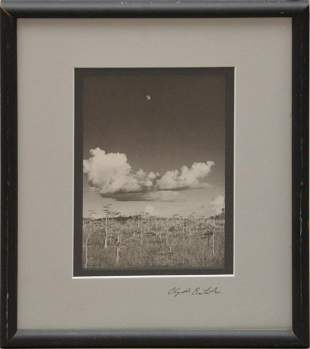 Clyde Butcher Moon Rise - 1986, Signed Photo, 8-1/2 x