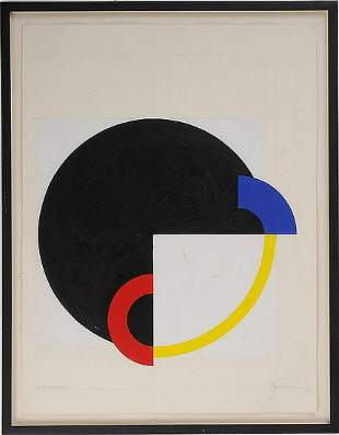 John Pearson (Born 1940) Acrylic / Paper, GETTING