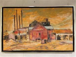 Hunt Slonem (AMERICAN, 1951) Large oil on canvas -