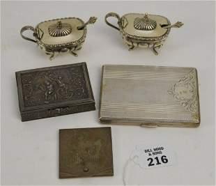 5 pcs Sterling & 800 Silver lot. Cigarette Card Case