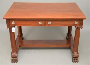 Mahogany Library Table, R.J. Horner, New York City, 2