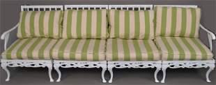Brown Jordan Day Lily Aluminum 4pc. White Patio Sofa,