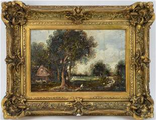 Attributed to: John Constable British Landscape o/b