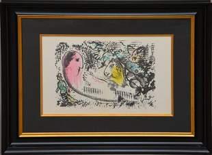 """Marc Chagall, Lithograph Derriere Le Miroir, 13 1/2"""" x"""