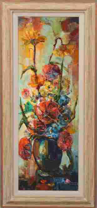 Felix Felmart (Spanish b. 1933) oil Still Life Flowers,