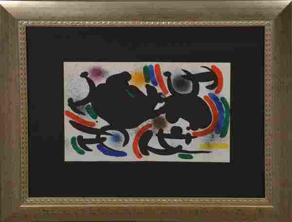"Joan Miro, Original Lithograph VII, 9 1/2"" x 8 1/4"""