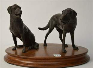 Charles Parks (American, 1922-2012) Bronze Labradors