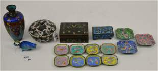 Group of 16 Articles of Chinese Cloisonne Enamel -